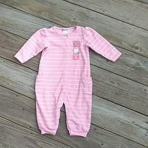 Carter's one piece fleece outfit. Size 9M